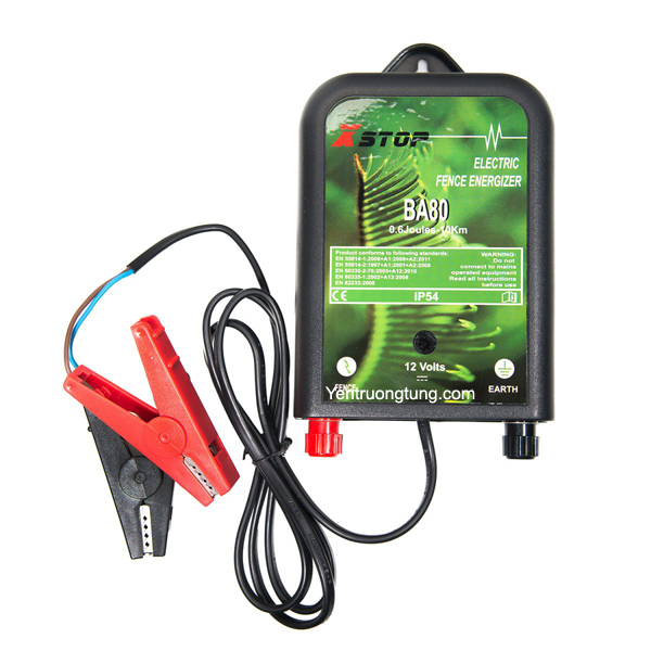 Xstop Electric Fence Energizer BA80